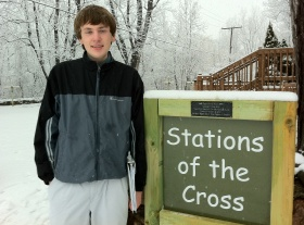 Alex Kelly helped create an impressive Stations of the Cross project.